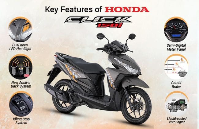 These are the exciting features of all-new Honda Click 150i