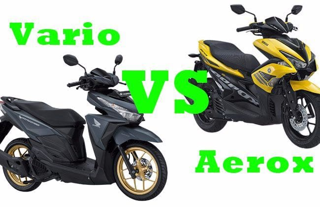 Adu Fitur Yamaha Aerox S-Version vs Honda Vario 150