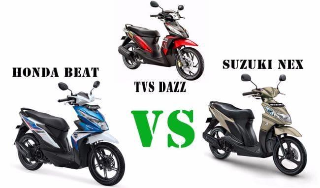 Adu Skutik Termurah: Suzuki Nex vs Honda Beat eSP vs TVS Dazz