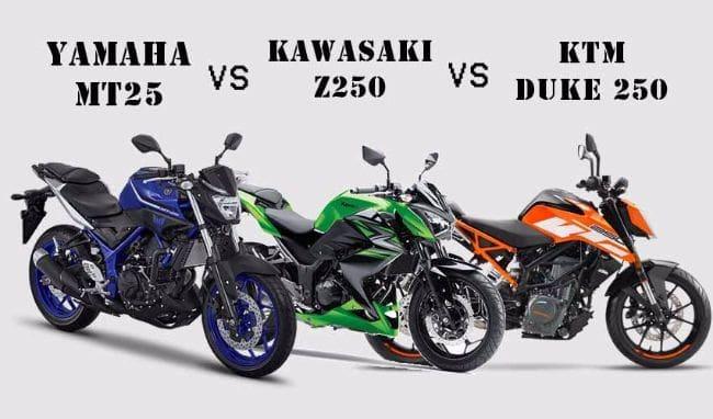 KTM Duke 250 vs Yamaha MT25 vs Kawasaki Z250, Siapa Terbaik?