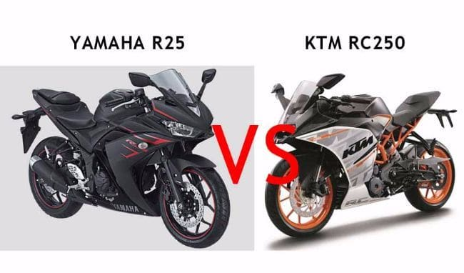 Komparasi KTM RC250 vs Yamaha R25