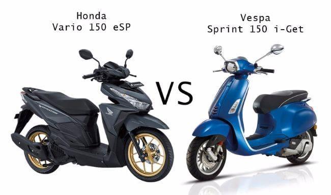 Membandingkan Honda Vario 150 vs Vespa Sprint 150 I-Get
