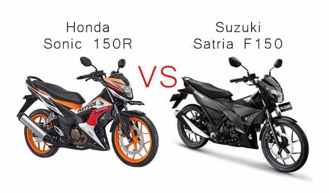 Adu Motor Ayam Jago, Honda Sonic 150R vs Suzuki Satria F150