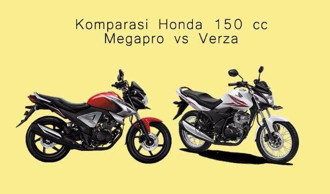 Komparasi Motor Honda 150 cc: Verza vs Megapro