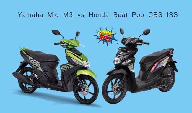 Adu Skutik Rp 15 jutaan: Honda Beat Pop CBS ISS vs Yamaha Mio M3