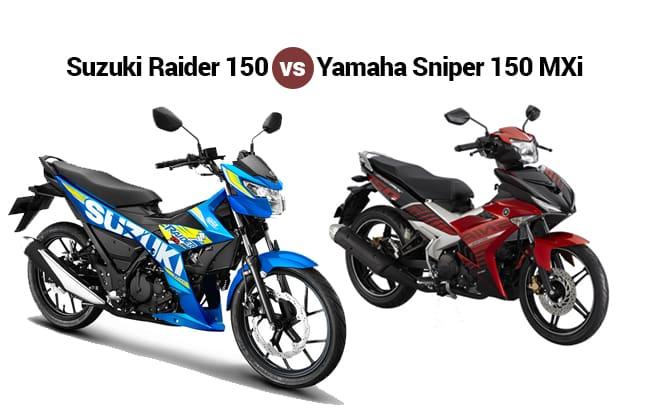 Suzuki Raider 150 vs Yamaha Sniper 150 MXi - The underbones fight