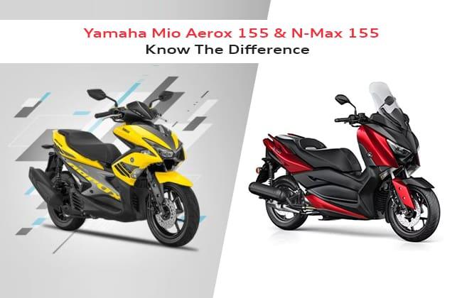 Difference between Yamaha Mio Aerox 155 and N-Max 155
