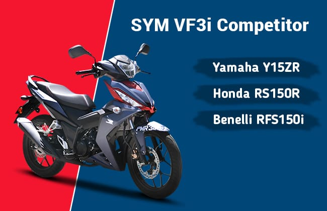 SYM VF3i and its three compititors  - The moped fight you can not miss