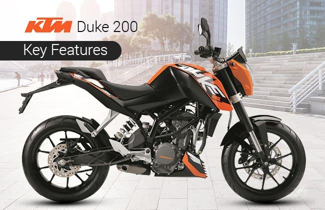 KTM Duke 200 - Features that impress
