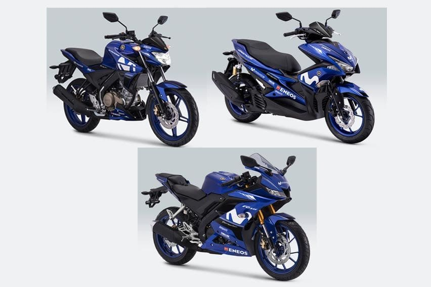 Yamaha Vixion, R15 dan Aerox Pakai Livery MotoGP Terbaru!