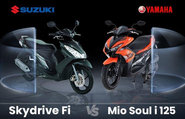 Suzuki Skydrive Fi vs Yamaha Mio Soul i 125 - The best pick