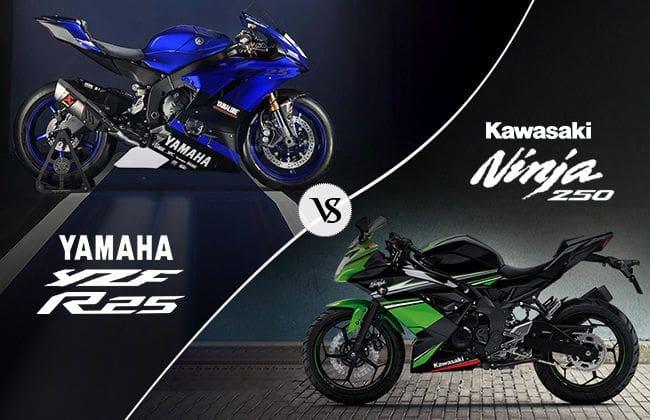 Yamaha YZF-R25 vs Kawasaki Ninja 250: A battle of two titans