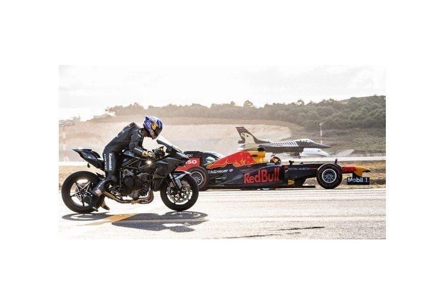 Drag Race, Kawasaki Ninja H2R Kalahkan Semuanya, dari Jet Tempur sampai Mobil Balap F1