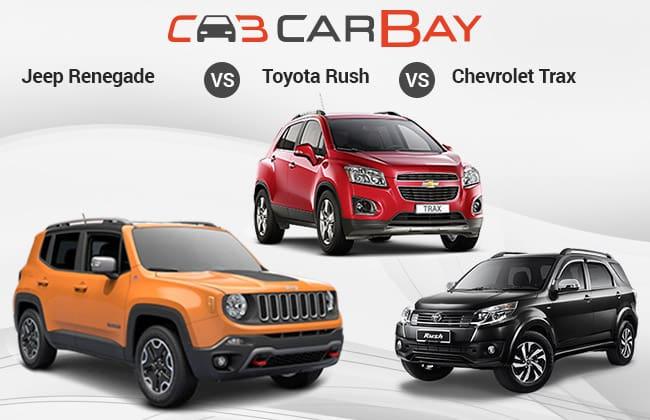 Jeep Renegade Vs Chevrolet Trax Vs Toyota Rush – Para Pesaing SUV Indonesia