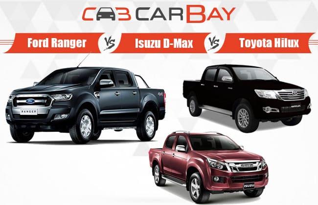 Ford Ranger Vs Isuzu-D-Max Vs Toyota Hilux – Pilih Pickup Anda