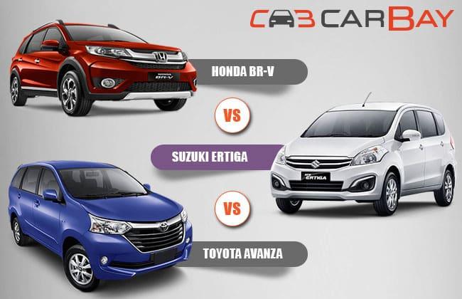 Honda BR-V vs Suzuki Ertiga vs Toyota Avanza – Perbandingan Antara Mobil Berani Tujuh Kursi