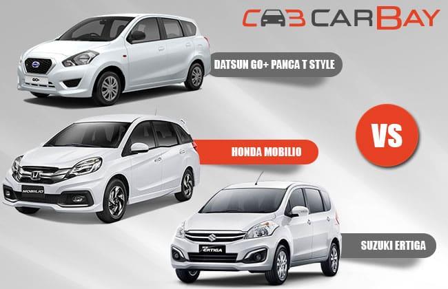 Datsun Go + Panca T Style Vs Honda mobilio Vs Suzuki Ertiga - Perbandingan - Terbaharui
