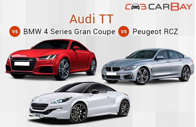 Infografis: 2016 Audi TT Vs BMW 4 Gran Coupe Vs Peugeot RCZ