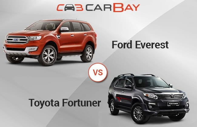 Ford Everest vs Toyota Fortuner: Head to Head