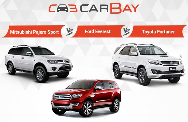 Mitsubishi Pajero Sport vs Ford Everest vs Toyota Fortuner – Ikhtisar Perbandingan