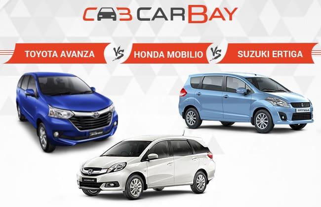 Toyota Avanza 2015 vs Honda Mobilio vs Suzuki Ertiga- Seven Seat Survival