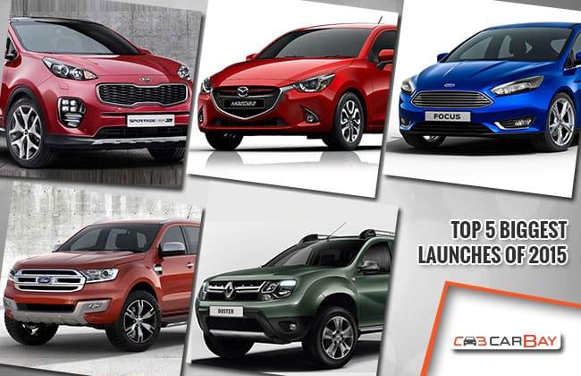 Top 5 các xe mới ấn tượng được giới thiệu trong năm 2015.