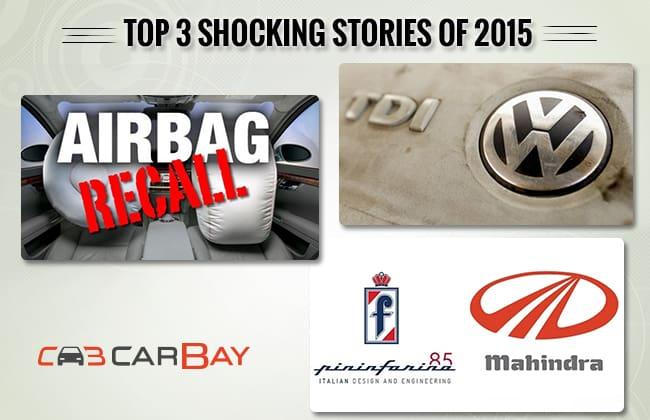 Top 3 câu chuyện về xe ô tô gây sốc nhất trong năm 2015