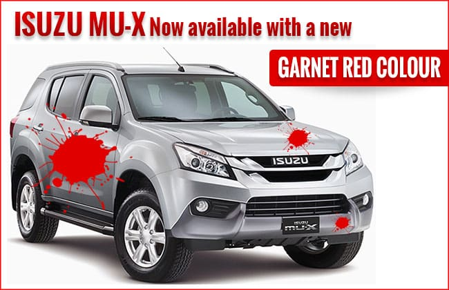 Isuzu mu-X Now Available with a New Garnet Red Colour in the Philippines!
