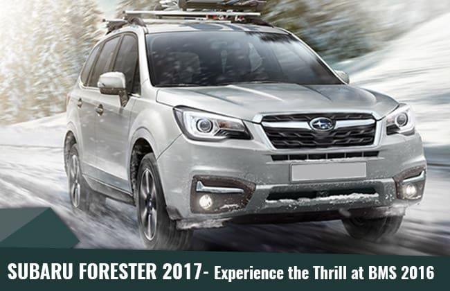 Subaru Forester 2017 – เตรียมตัวเปิดผ้าคลุมในงานมอเตอร์โชว์