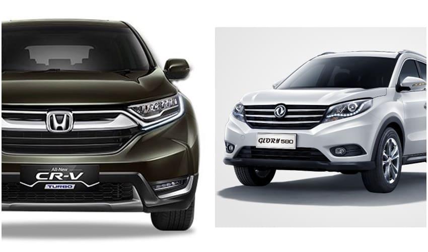 Adu Spesifikasi Honda CR-V Vs Dongfeng Glory 580
