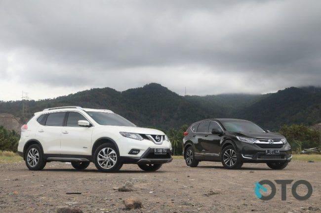 Comparison Test: Honda CR-V Turbo vs Nissan X-Trail Hybrid (Part-1)