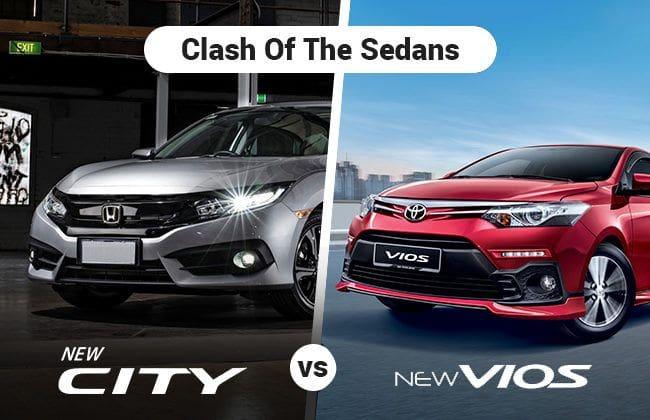 Neck-to-neck sedan fight - Honda City vs Toyota Vios