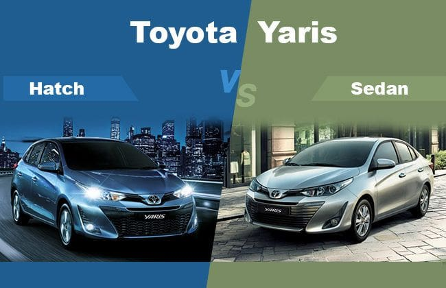 Toyota Yaris Hatchback vs Sedan - What's the difference?