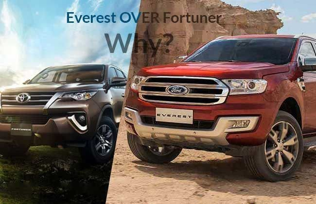 Why you should put your money on Ford Everest over Toyota Fortuner?