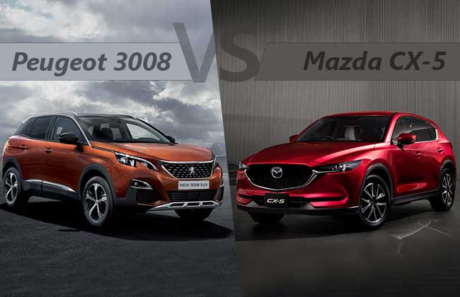Peugeot 3008 vs Mazda CX-5 - What happens when two world apart SUVs stand face-to-face?