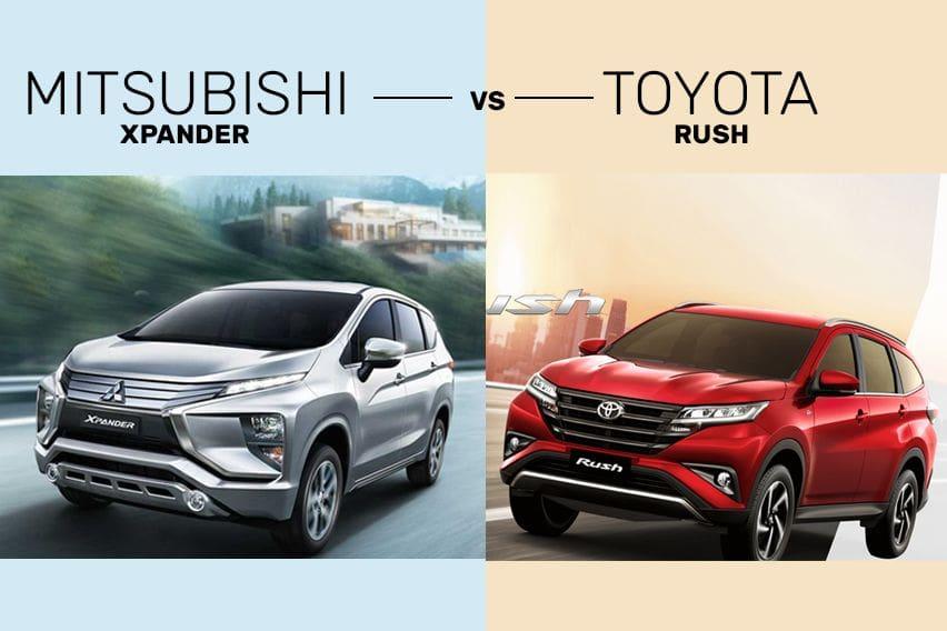 Mitsubishi Xpander vs Toyota Rush - The modish MPV & SUV tussle