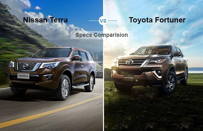 Nissan Terra vs Toyota Fortuner: Specifications comparison