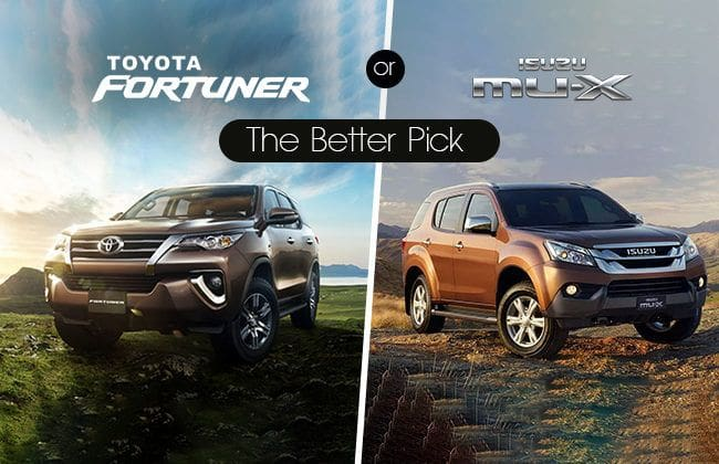 Toyota Fortuner vs Isuzu MU-X: Search for the better pick