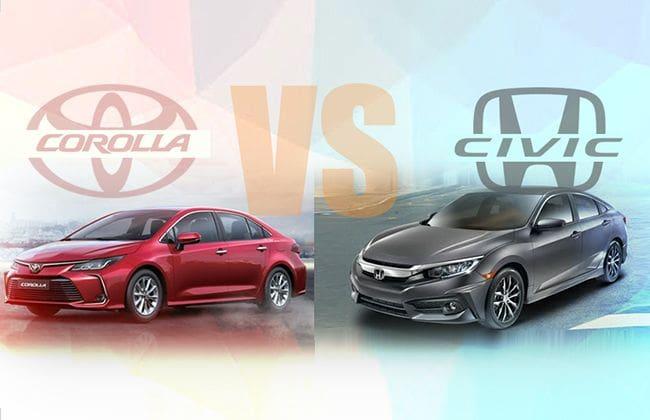 2020 Toyota Corolla vs 2020 Honda Civic - What happens when sedans from two major brands fight?