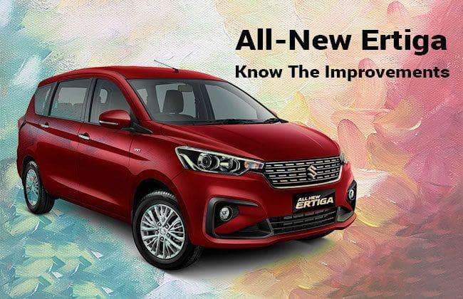 2018 Suzuki Ertiga: Improvements that have been made