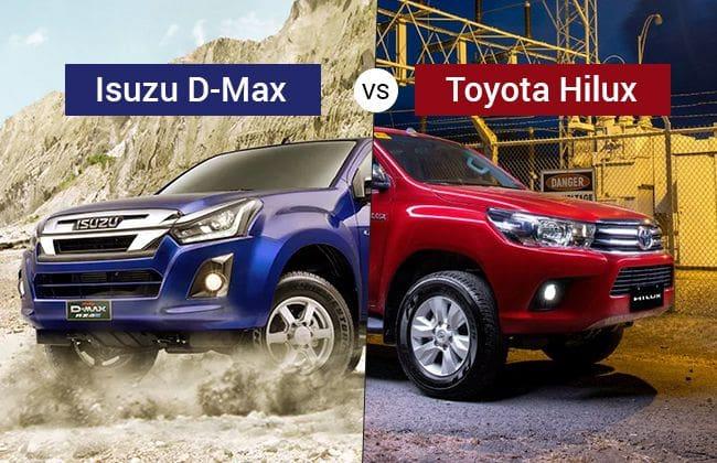 Isuzu D-Max vs Toyota Hilux: Who will win the pickup fight?