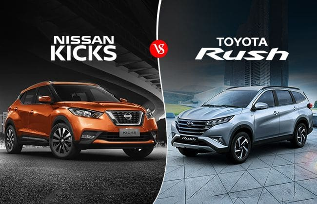 Nissan Kicks vs Toyota Rush - The feature-packed crossover or the bigger straightforward SUV