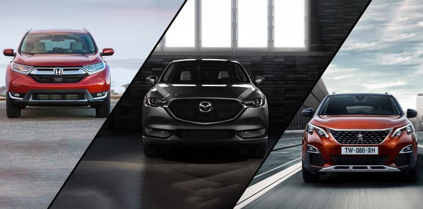 Honda CR-V vs Mazda CX-5 vs Peugeot 3008