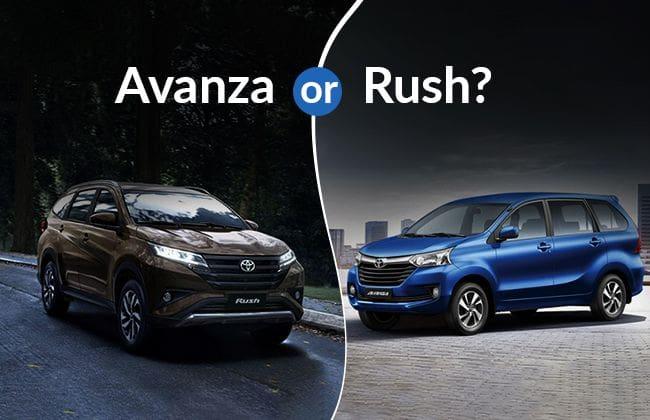 Cross-Segment comparison: Toyota Rush vs Toyota Avanza