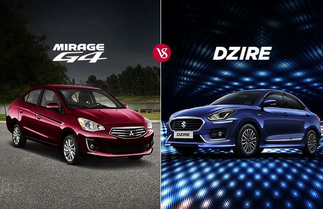 2018 Suzuki Dzire vs 2018 Mitsubishi Mirage G4: Which one to buy?