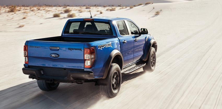 ford ranger raptor rear