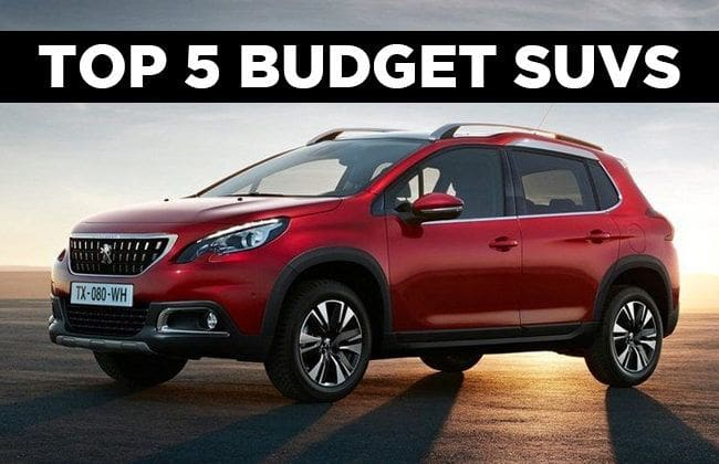 Top 5 budget SUVs to buy in UAE