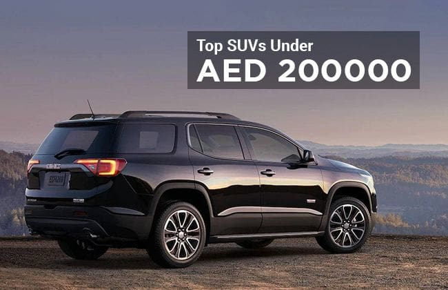SUVs to buy for less than AED 200,000