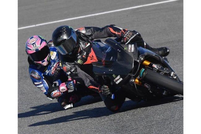 Jajal Superbike Yamaha YZF-R1, Lewis Hamilton Terjatuh