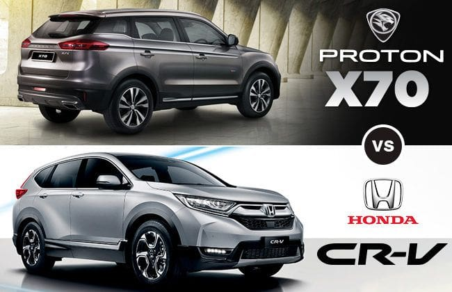 Proton X70 vs Honda CR-V - A fight between the economical and expensive SUV